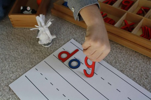 Movable Alphabet Work (Photo from Montessori MOMents)