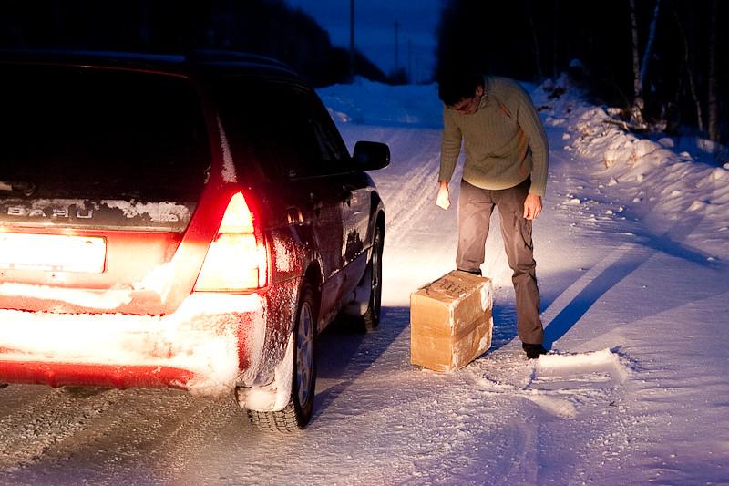 На зимнике может произойти все что угодно,, поэтому надо быть готовым ко всему.  Вот например ремонтные работы на...