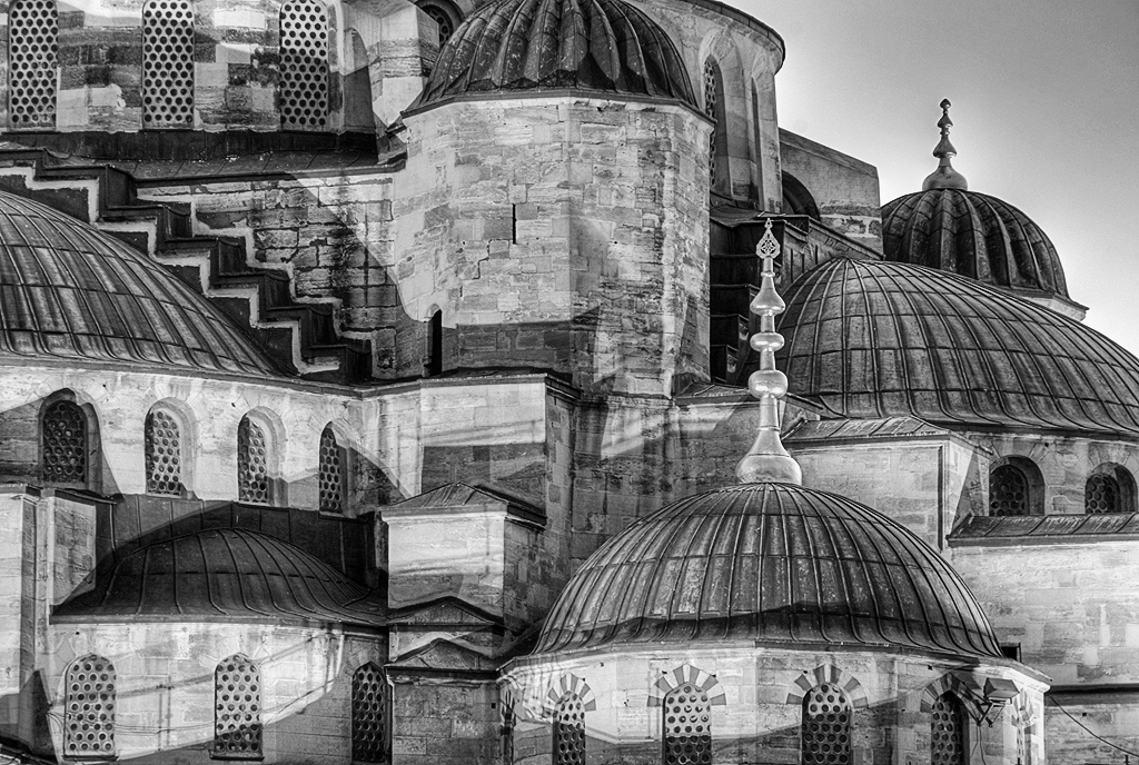Hagia Sofia, black and white