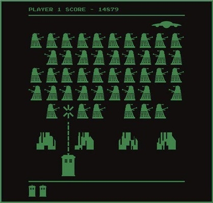 Mush-up de Doctor Who Space Invader