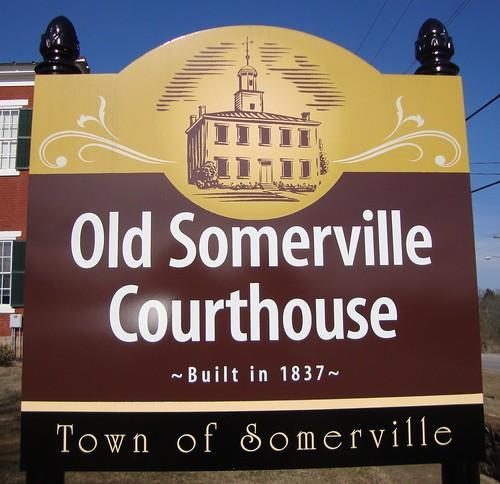 Old Somerville Courthouse Sign (Somerville, Alabama)