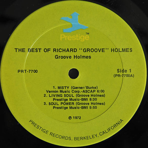 PR 7700  The Best Of Richard Groove Holmes-label-AA
