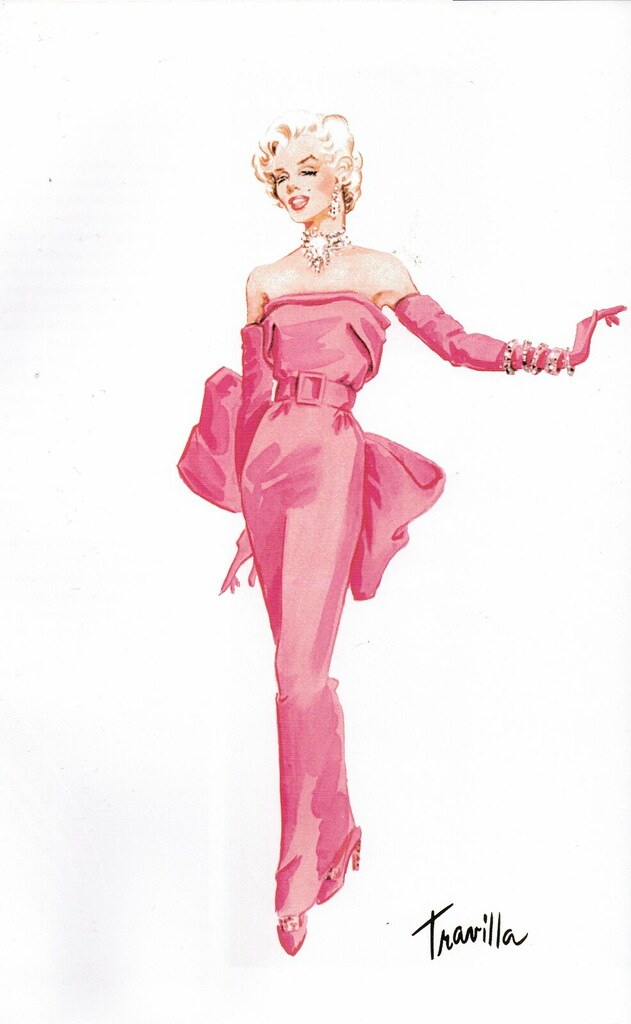 "Travilla Costume Design for Marilyn Monroe, ""Gentlemen Prefer Blondes"""