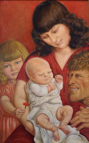 Otto Dix, Die Familie des Künstlers (The artist's family)