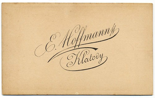 E. Hoffmann, Klatovy - Verso by oldichvondich (josefnovak33´s Alter Ego)