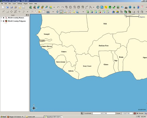 QGIS West Africa Map