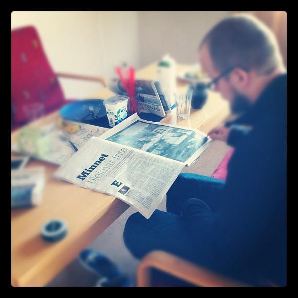 Det bästa med helgen: Lång brunch, tidningsläsning och alpint på TV.