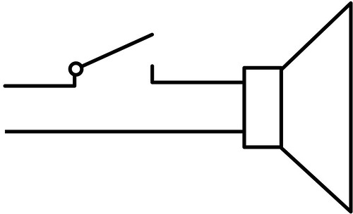 Hard-wired mute switch