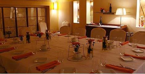 Mesa del salón privado