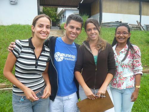 Jovens cientistas ambientais.