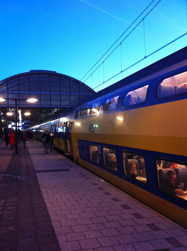 Train in The Hague early in the morning
