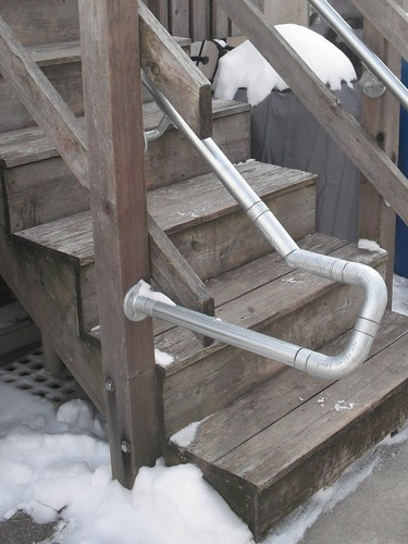 Smooth Metal Pipe Railing for Wooden Deck Rail