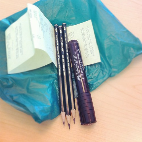 New pencils + pen #janphotoaday #somethingyoubought #day18 #artsupplies