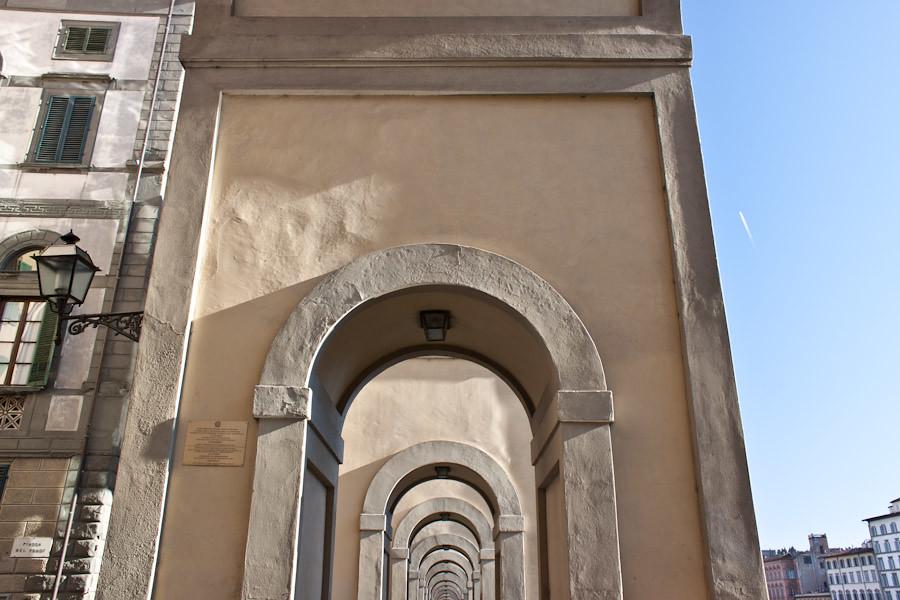 An arched corridor near Ponte Vecchio