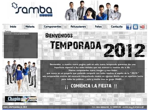 Grupo Samba 2012 - Captura web