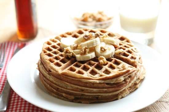 Whole Wheat Banana Bread Waffles Final 1