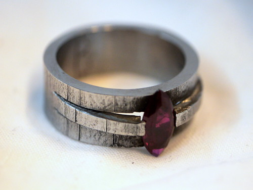 Iron and Ruby Ring