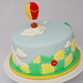Hot air balloon baby shower cake by Sweet Fix