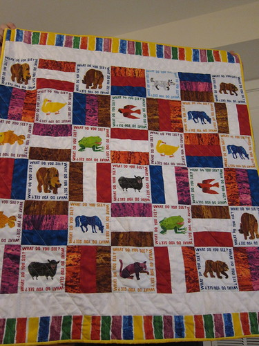 Eric Carle quilt front