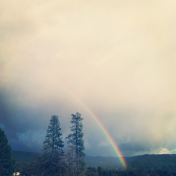 Rainbow using Instagram