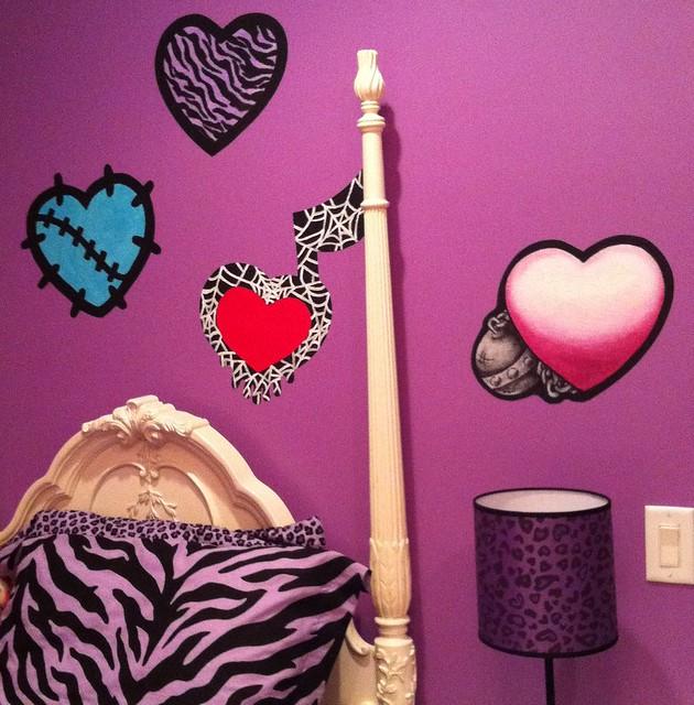 Monster High Themed Bedroom: Monster High Doll Wallpaper Art Sricker Mural Handmade Roo