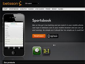 Betsson Sportsbook Lobby