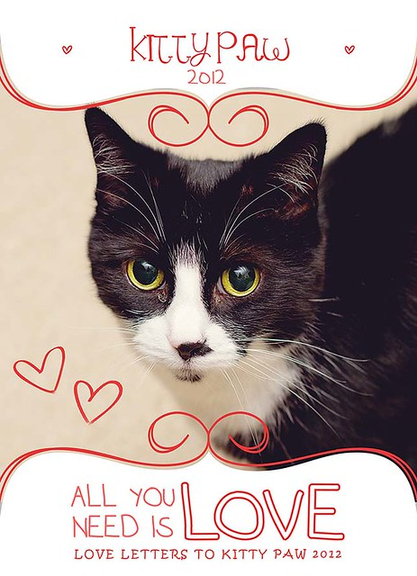 Kitty Paw Valentine's Day Card RS