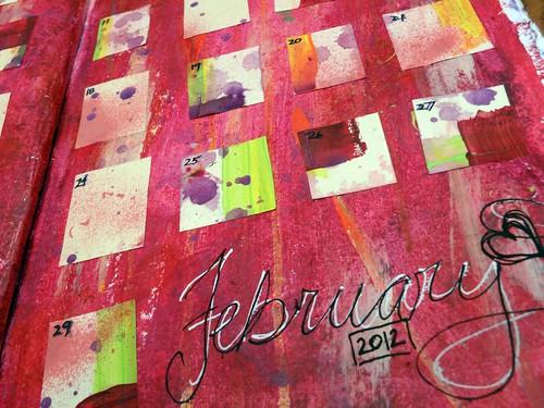 February 2012 Calendar Page Closeup 3