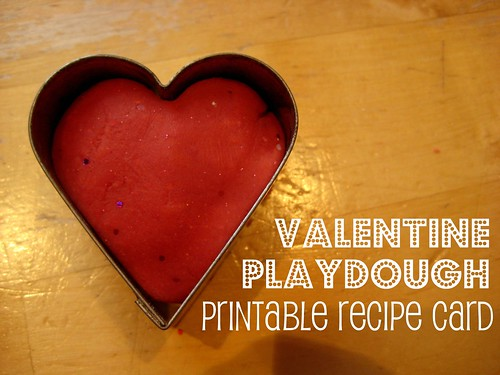 valentine playdough