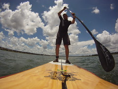 surface water sports, vehicle, sports, sea, extreme sport, water sport, stand up paddle surfing, surfboard, boat, paddle,