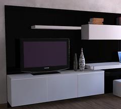 Modular lcd rack panel tv moderno living progetto mobili for Muebles balbin infiesto