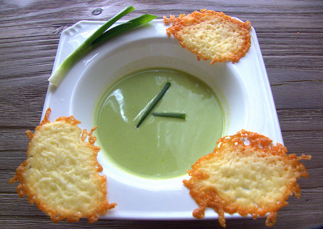 Spring Onion Velouté And Parmesan Wafers