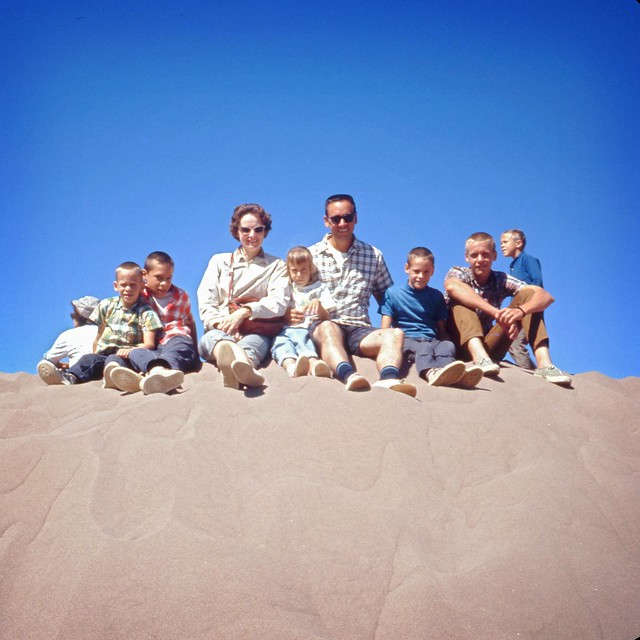 August 1968 Great Sand Dune National Monument who family