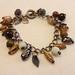 Rustic copper charm bracelet