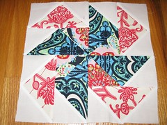 Sew. Happy. Quilt. Flying Geese Pinwheel
