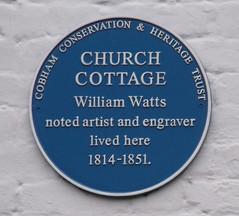 Photo of William Watts blue plaque