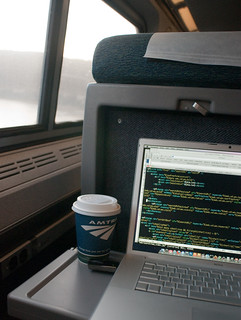 telecommuting on Amtrak (by: rxb/Richard, creative commons)