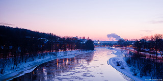 Cold weather in Vilnius