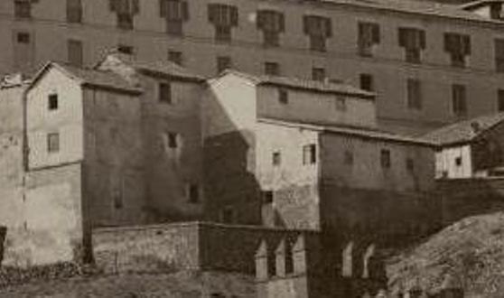 Mesón del Sevillano hacia 1865. Fotografía de Jean Laurent (detalle)