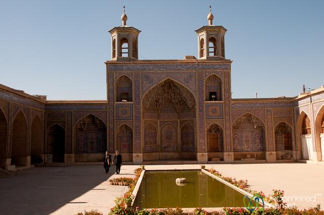 Pink Mosque Courtyard - Shiraz, Iran