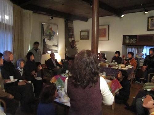 新年会で挨拶する小原聖子先生 2012年2月5日 by Poran111