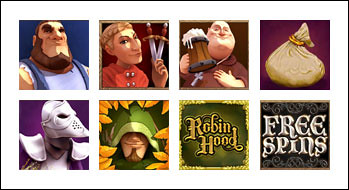 free Robin Hood Shifting Riches slot game symbols