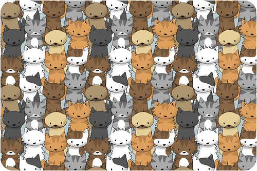 doodlecat fabric pattern
