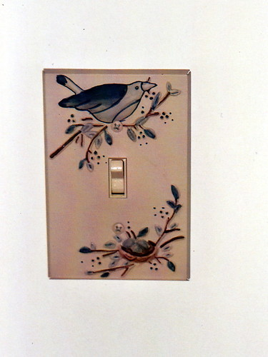 Bird and Nest Switch Plate