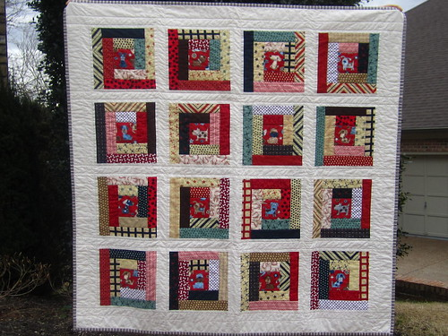 Dog Cabins baby quilt