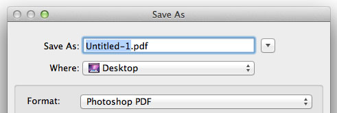 Save As Photoshop PDF