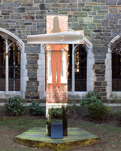 LOADED: FLOATING MAN Sculpture (2011) by Bennett Wine, Church of the Intercession, Harlem, New York City