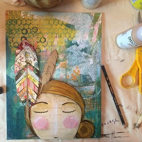 Emerging. Feathers make me think of dear friends @matirose and @curlygirldesign  #artday #letartoutletlovein