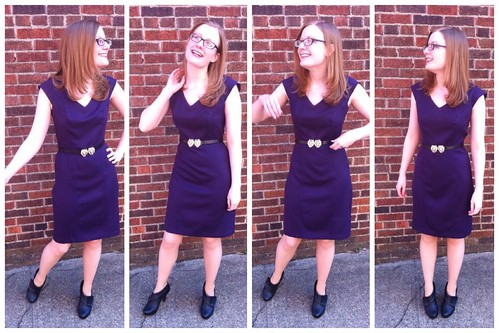 Purple Sheath Dress Outtakes