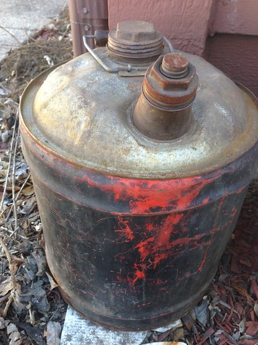Found in the Melting Snow: Ancient Gasoline Can